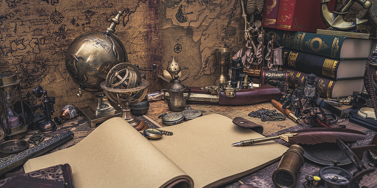 A collection of antique things.