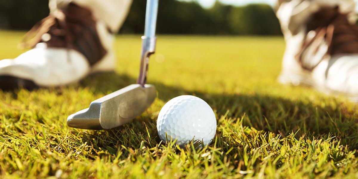 Golfing - close up of a golf club.