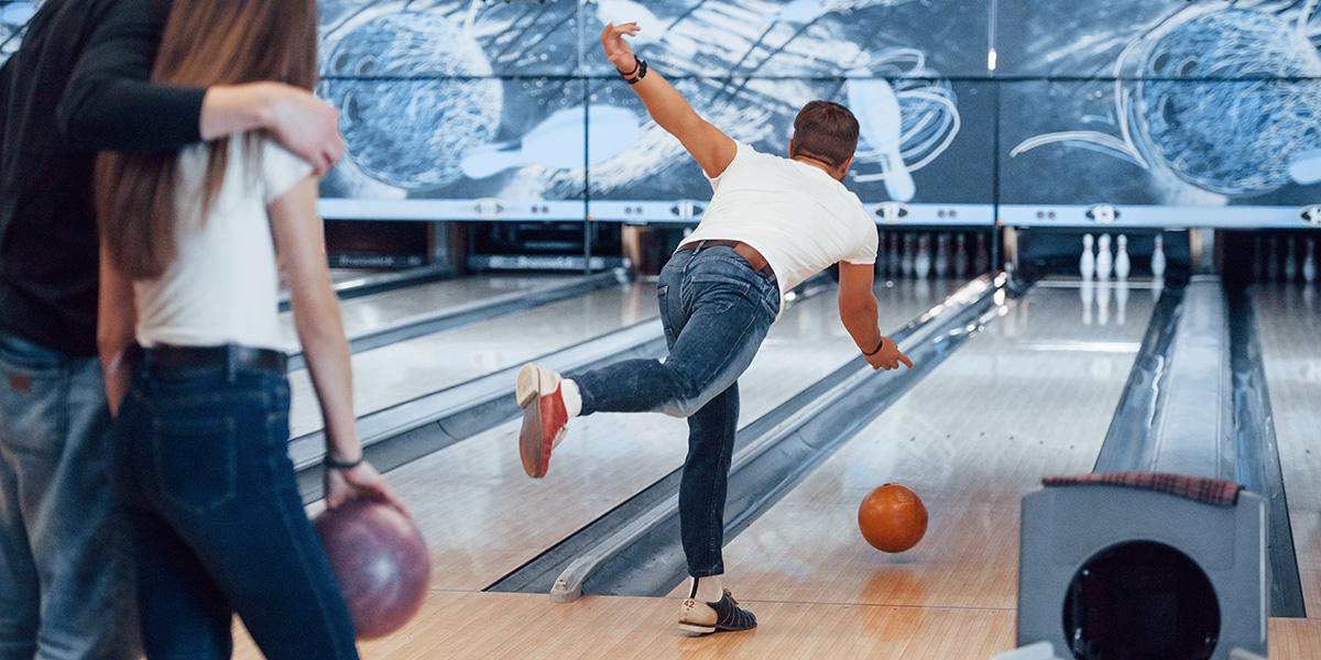 Bowling as a social hobby.