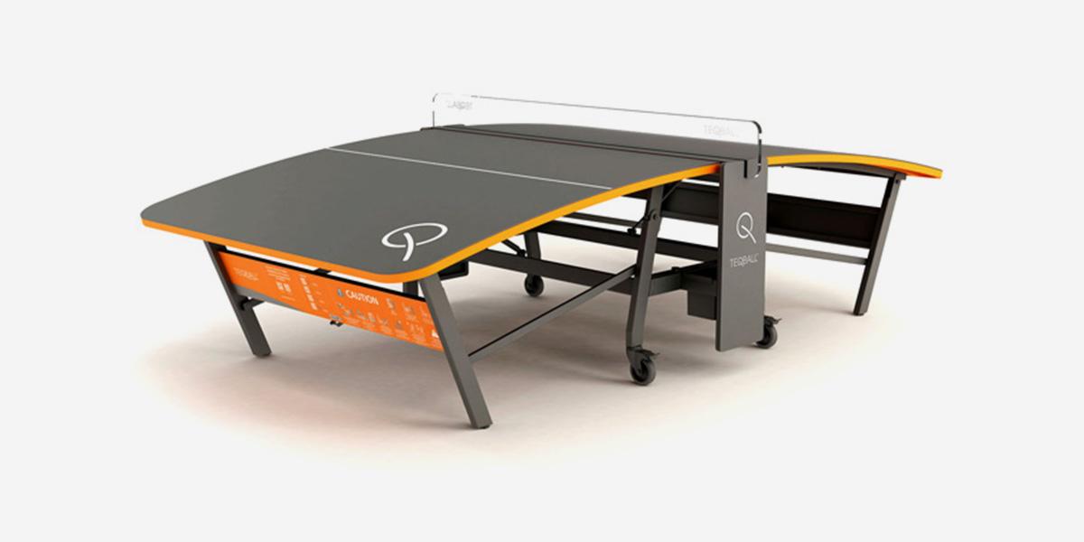 Teqball table.