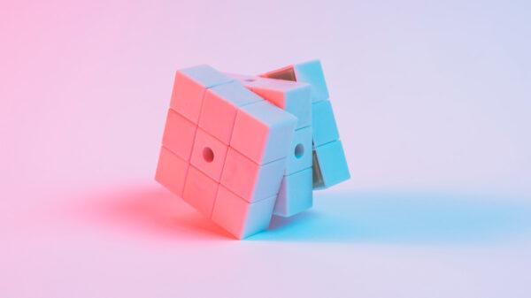 Best storytelling games - a Rubik's cube transforming.