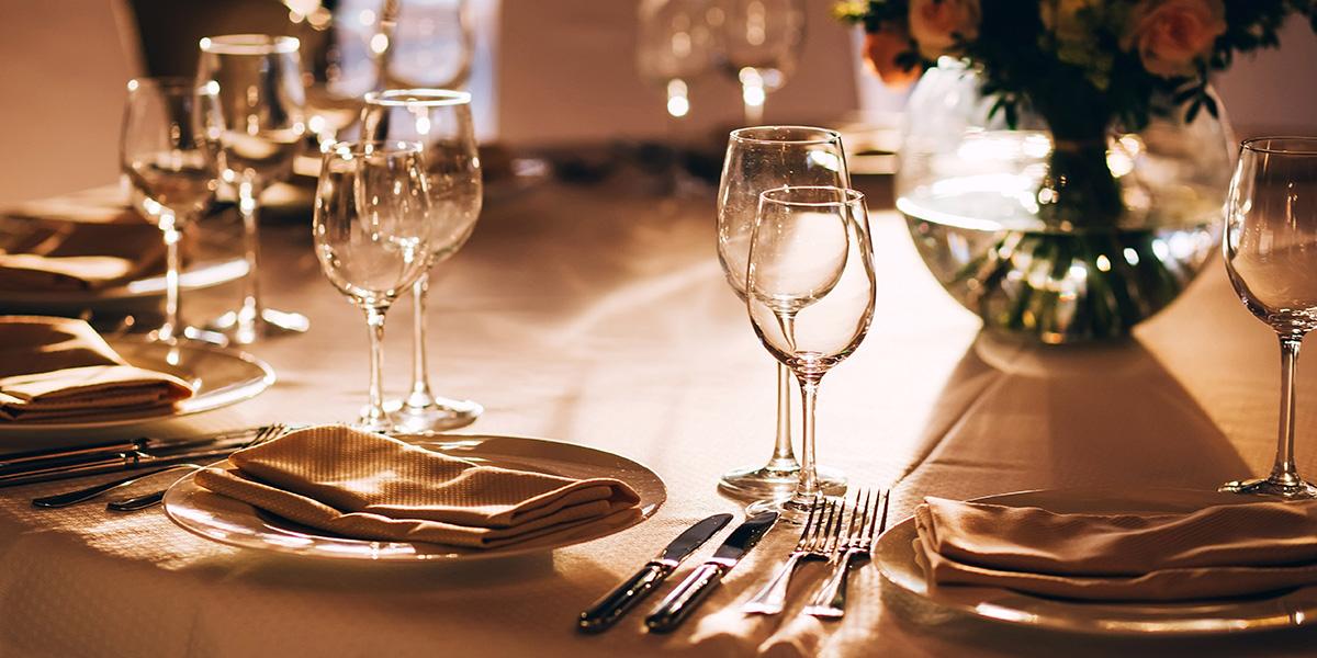 Romantic dinner date.