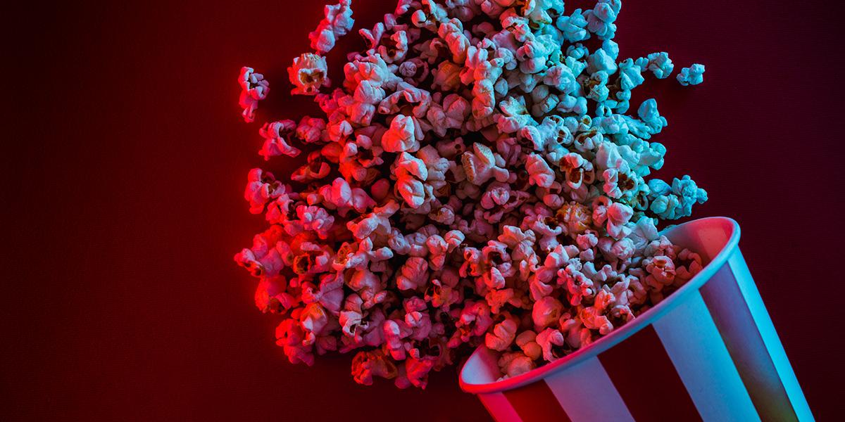 Movie night as a date idea.