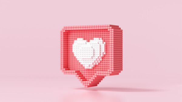 How to tell a girl you like her - pixelated heart.