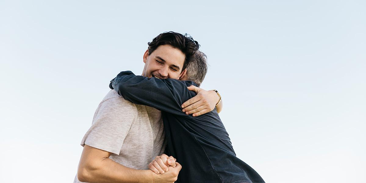 the handshake n pat hug