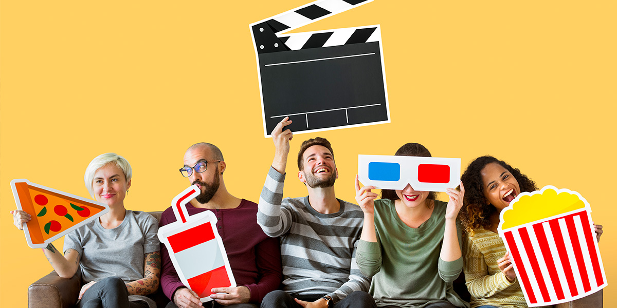 What should I do at home? Host a movie night!