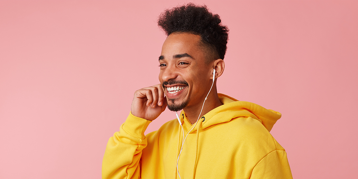 Listening to a podcast